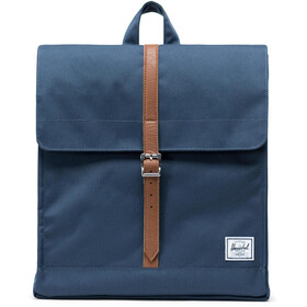 Herschel City Mid-Volume Zaino 14l, navy/tan synthetic leather